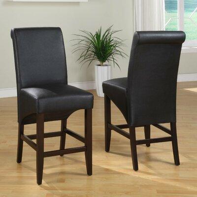 Coombe Dingle 25 inch Bar Stool Upholstery: Jet Black