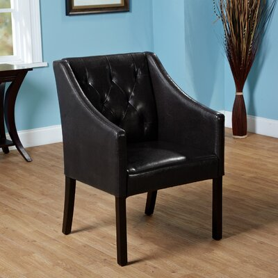 Newton Tufted Armchair Color: Black