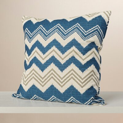Israel Zigzag Cotton Throw Pillow Color: Birch, Size: 20 H x 20 W