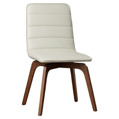Swainswick Genuine Leather Upholstered Dining Chair