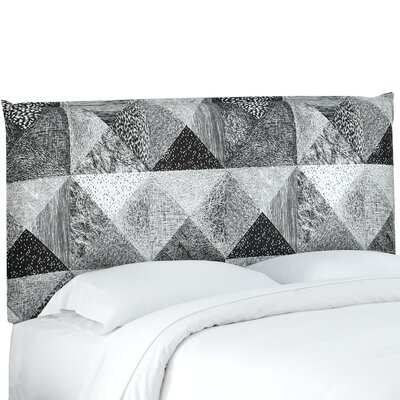 Edler French Seam Upholstered Panel Headboard Size: King