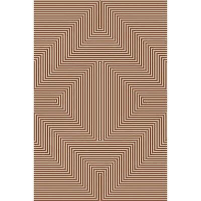 Nasir Hand-Woven Brown Area Rug Rug Size: 6 x 9