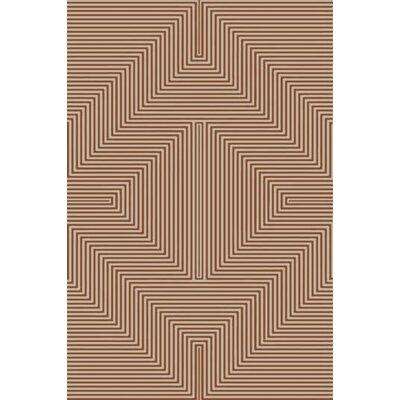 Nasir Hand-Woven Brown Area Rug Rug Size: 4 x 6