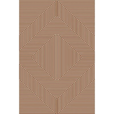 Nasir Hand-Woven Brown Area Rug Rug Size: 8 x 10