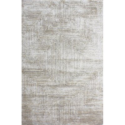 Nasir Hand-Woven Gray Area Rug Rug Size: Rectangle 5 x 76