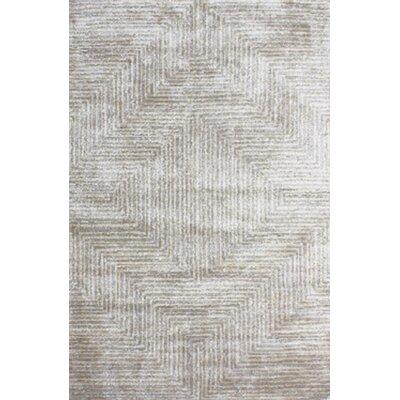 Nasir Hand-Woven Gray Area Rug Rug Size: 3 x 5