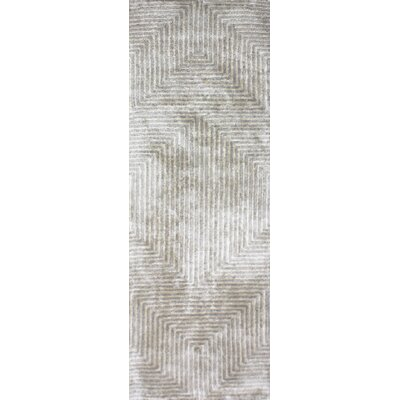 Nasir Hand-Woven Gray Area Rug Rug Size: Runner 26 x 8