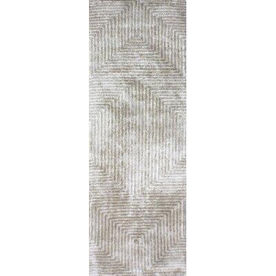 Nasir Hand-Woven Beige Area Rug Rug Size: Runner 26 x 8