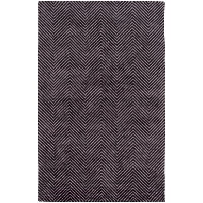 Nasir Hand-Woven Purple Area Rug Rug Size: Rectangle 5 x 76