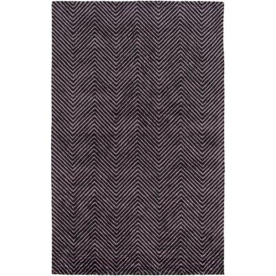 Nasir Hand-Woven Purple Area Rug Rug Size: 2 x 3