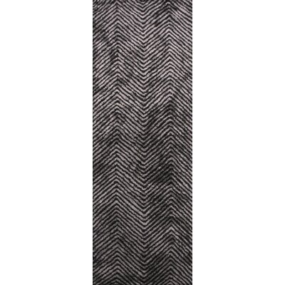 Nasir Hand-Woven Black Area Rug Rug Size: Runner 26 x 8