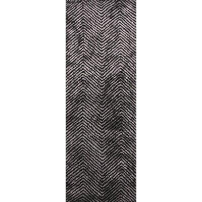 Nasir Hand-Woven Black Area Rug Rug Size: Runner 26 x 8