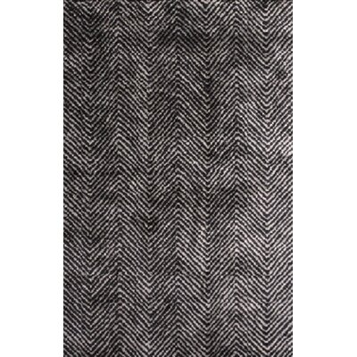 Nasir Hand-Woven Black Area Rug Rug Size: Rectangle 5 x 76