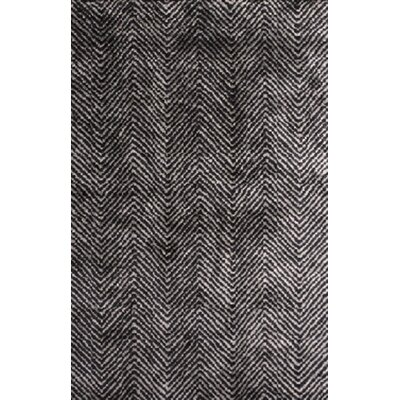 Nasir Hand-Woven Black Area Rug Rug Size: 2 x 3