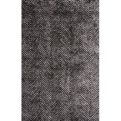 Nasir Hand-Woven Black Area Rug Rug Size: 9 x 13