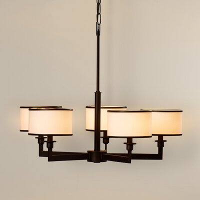 Darcia 5-Light Drum Chandelier Finish: Oil Rubbed Bronze