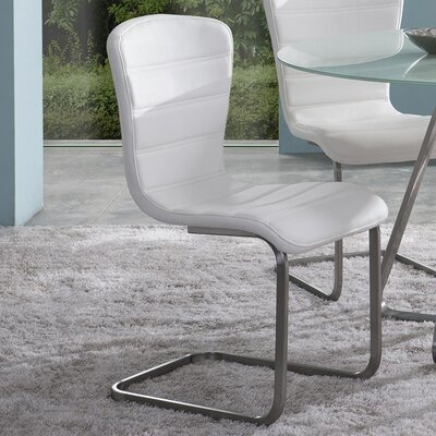 Cameo Side Chair Upholstery: White