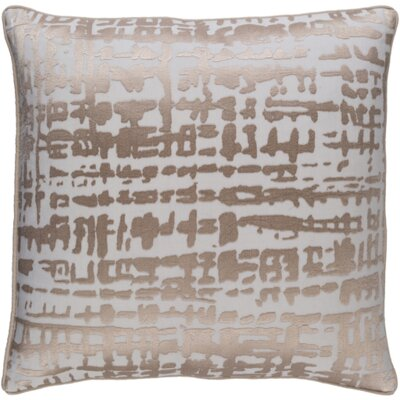 Mack Down Throw Pillow Size: 20 H x 20 W x 4 D, Color: Brown