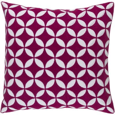Veranda Throw Pillow Size: 22 H x 22 W x 4 D, Color: Hot Pink/Ivory