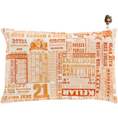 Melendez Down Throw Pillow Size: 22 H x 22 W x 4 D, Color: Rust/Pastel Pink/Tangerine/Forest/Peach