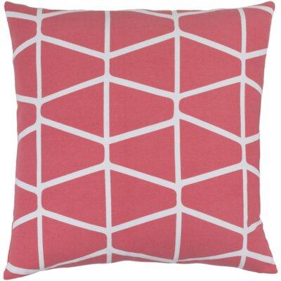 Ochoa Cotton Throw Pillow Size: 18 H x 18 W x 4 D, Color: Hot Pink / Ivory