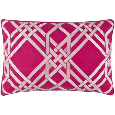 Barker Down Lumbar Pillow Color: Hot Pink/Ivory