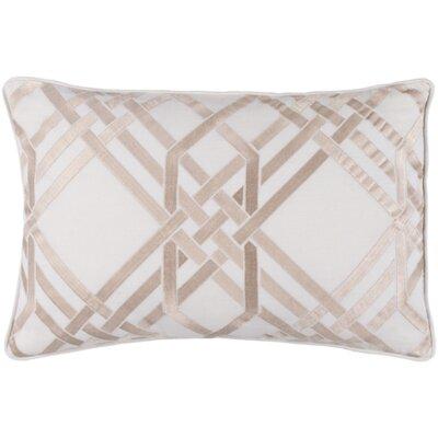 Mora Lumbar Pillow Color: Ivory/Gold