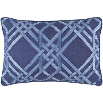 Barker Down Lumbar Pillow Color: Cobalt/Sky Blue