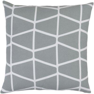 Ochoa Cotton Throw Pillow Size: 22 H x 22 W x 4 D, Color: Light Gray / Ivory