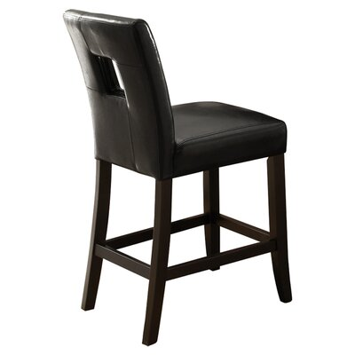 Atauro Island 24 Bar Stool Upholstery: Black
