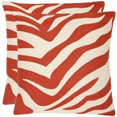 Jourdan Cotton Throw Cushion Size: 18 H x 18 W, Color: Orange Sunburst