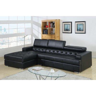Barton Hills Sectional Upholstery: Black