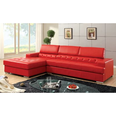 Barton Hills Sectional Upholstery: Red