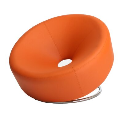 Jon Round Lounge Chair Upholstery: Orange