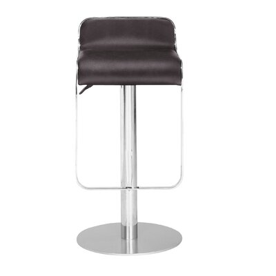 Landen Adjustable Height Swivel Bar Stool Seat Color: Espresso