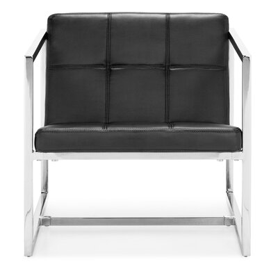 Frederick Carbon Occasional Armchair Color: Black