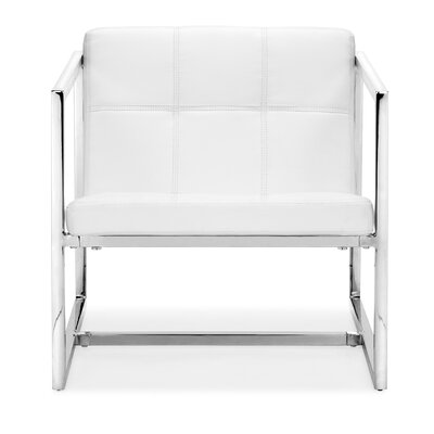 Frederick Carbon Occasional Armchair Color: White