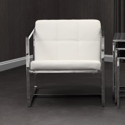 Frederick Carbon Occasional Armchair Upholstery: White