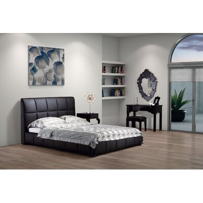 Forbes Upholstered Platform Bed Upholstery: Black, Size: King