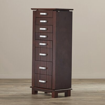 Bal Harbour Jewelry Armoire with Mirror