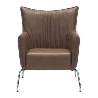 Coeburn Occasional Armchair Upholstery: Saddle Brown