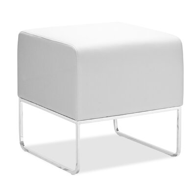 Esparza Ottoman Upholstery: White