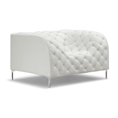 Escobar Lounge Chair Upholstery: White