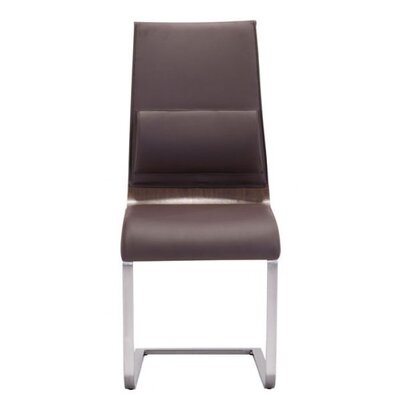 Erickson Upholstered Dining Chair Upholstery Color: Brown/Walnut