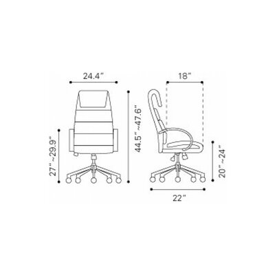 Giovanni High Back Office Chair WADL3318 26702402