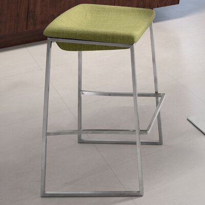 Darby 24.4 Bar Stool Upholstery: Green
