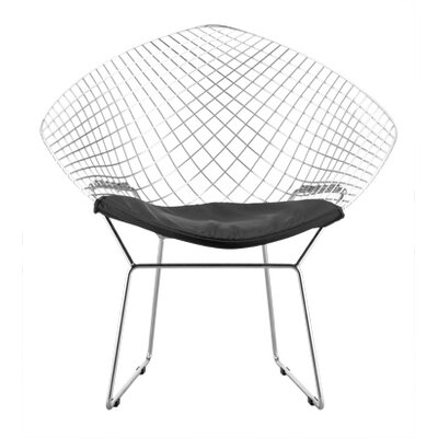 Net Arm Chair Upholstery: Black