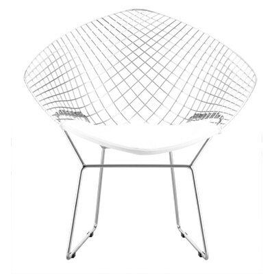 Net Arm Chair Upholstery: White