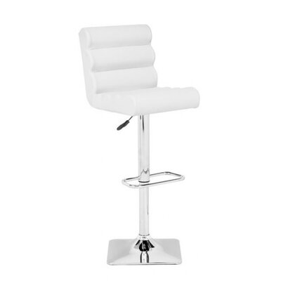 Binjai Adjustable Height Bar Stool Seat Color: White