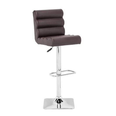 Binjai Adjustable Height Bar Stool Seat Color: Espresso
